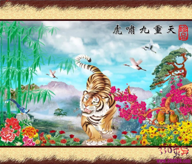 日本人画虎:岛国压根没老虎,画个鸡毛呀?!
