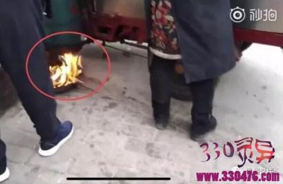 贵阳街头用明火烤液化气罐,小贩:为利用充分,我天天烤