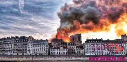 巴黎圣母院大火已扑灭:经历罕见火灾后的巴黎圣母院 凄美且顽强