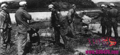 国民党特务及汤兰英,王守信,魏振海枪毙现场真实照片