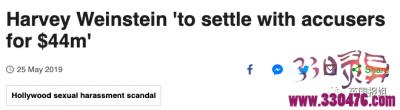 好莱坞传奇巨头哈维·韦恩斯坦性侵众多女星,只花3亿就摆平了?