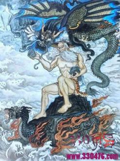 大禹治水的四大神器,定海神针、河图洛书、开山斧、避水剑...