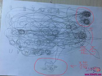 """笔仙怎么玩?吧友记录""""笔仙""""全过程,神秘力量还在纸上画了只猫..."""